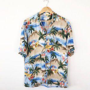 Vintage Pierra Cardin Rayon Hawaiian Shirt